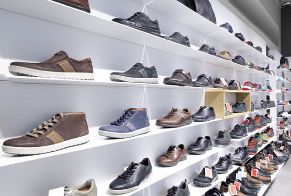 Magnetic 3D wall shoe store